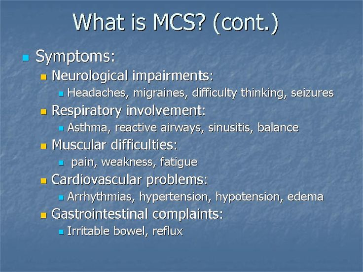 what is mcs continuted